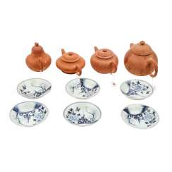 Vintage 10tlg.: four teapots and six bowls. TEK SING/CHINA, 18./19. Century.