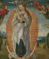 Madonna with child in glory