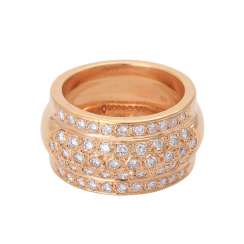 Ring with brilliant-cut diamonds approx 1,12 ct,