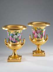 Pair of crater vases KPM Berlin.