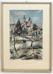 winter banquets, and castle view - signed