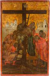 LARGE ICON OF THE DESCENT FROM THE CROSS OF CHRIST