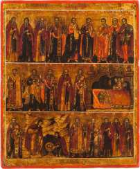 RARE TABLETKA WITH THE SAINTS OF THE MONTH OF FEBRUARY