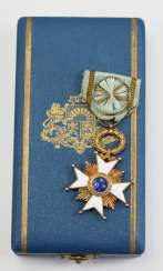 Latvia: order of the three stars 1. Model (1924-1940), officers cross, in case.