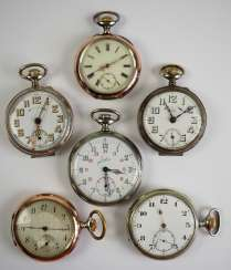 Lot of 6 pocket watches.