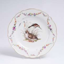 Plate with a quail motif