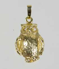 Owl Pendant - Yellow Gold 585