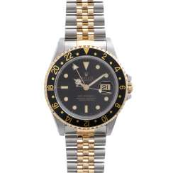 ROLEX GMT-Master II mens Watch, Ref. 16713LN, environ 1992. En acier inoxydable/Or 18K.