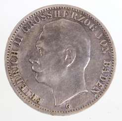 3 Mark Friedrich II, Grand Duke of Baden 1911G