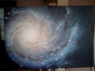 Outer Space Universe Galaxy M 74