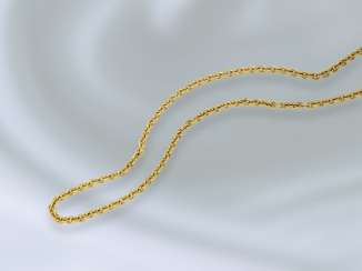 Necklace/Collier: exceptionally long vintage anchor necklace in 18K Gold