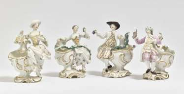 The four seasons as a spice container, Frankenthal, Adam Bergdoll period, around 1763, model by Joh. Friedrich Lück