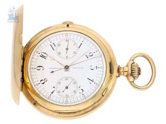 Pocket watch: a particularly heavy Pocket chronometer with Chronograph and Register, Vacheron & Constantin