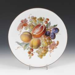 Wall plates with fruit painting, MEISSEN