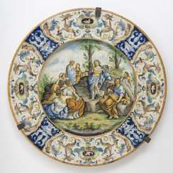 Large plate Italy, Renaissance style
