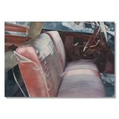 John Salt (Birmingham 1937): Arrested Vehicle Silver Upholstery 1970