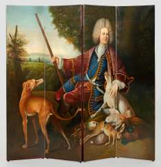 Large folding screen in the Baroque style