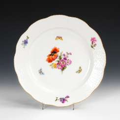 Dinner plate with flower painting, KPM BER