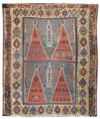 Rare published kilim with four Mihrab