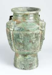 Large chinese bronze container possible Zhou period