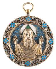 CLOISONNÉ ENAMEL PENDANT WITH GOD THE FATHER