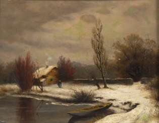 SPLITGERBER, August Karl Martin: Winterlandschaft.