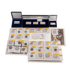 Collection of coins of GOLD and SILVER, among other things,