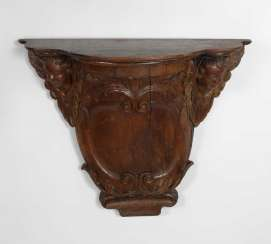 Large carved Baroque console.