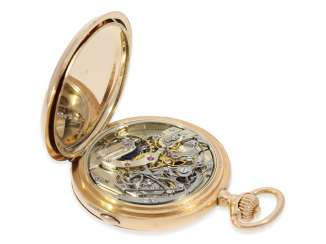 Pocket watch: unique Anchor chronometer with Chronograph Subdials, Pavel Buhre, supplier to the Royal household of his Majesty, No. 53450, probably Präsentuhr of Kaiser Wilhelm II to the Russian Tsar in 1896