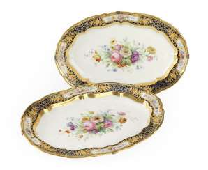 A Pair of Dishes from the Sèvres Service