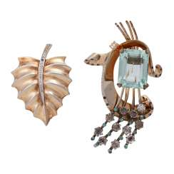 2 Brooches Fashion Jewelry,