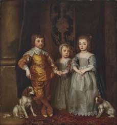 according to Dyck, Anthony van. The three oldest children of the English king Charles I.
