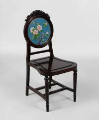Chair with Cloisonne back plate.