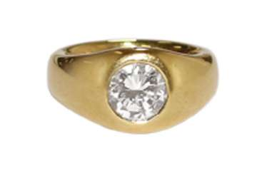 Brilliant ring with 2.09 ct