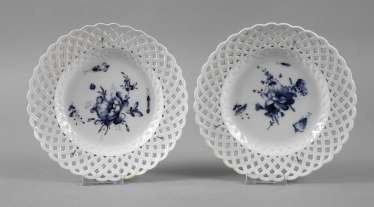 Meissen Pair of basket edge of the plate,