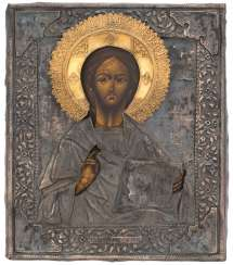 Christ Pantocrator with Silberoklad