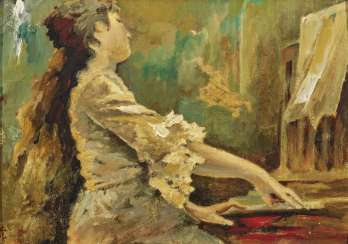 Tranquillo Cremona - Young woman at the piano
