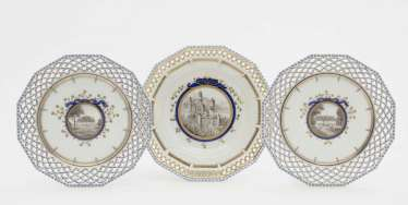 Three plates with breakthrough