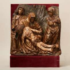 Relief panel depicting the Lamentation of Christ, Flemish, late 15th century