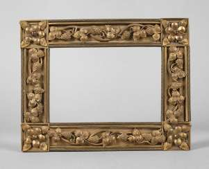 Bronze frame with vine leaf decoration