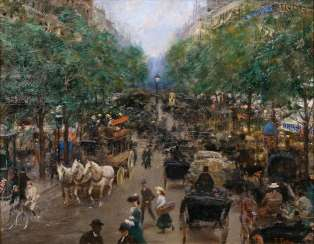 Boulevard in Paris