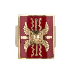 Legion ring, according to the old model of custom-made Ring in yellow gold 18 carats,