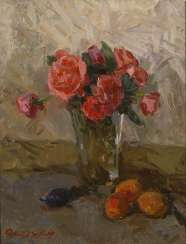 Russian Painter: Rose Still Life