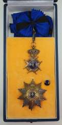 Belgium: Order of Leopold II, 2nd model (since 1951), Grand Cross set, in a case.