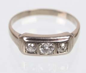 Diamond Ring - White Gold 585