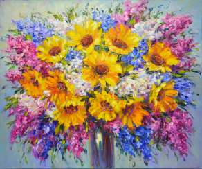 SUNNY BOUQUET OF FLOWERS
