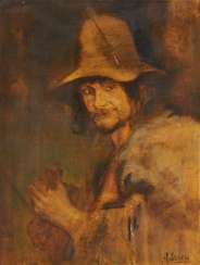 Study of a Young Man with a Slouch Hat and a Violin