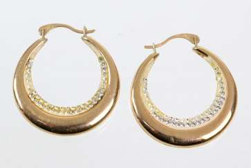 Gold Hoop Earrings - Yellow Gold 375