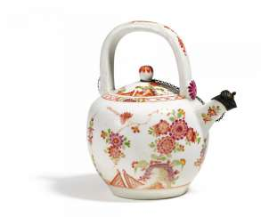 Teapot with Indian flowers
