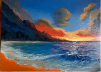 """SUNSET AT THE SEA"". SALES."